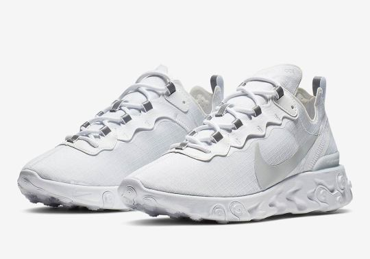 The Nike React Element 55 Gets A Blizzard White Colorway