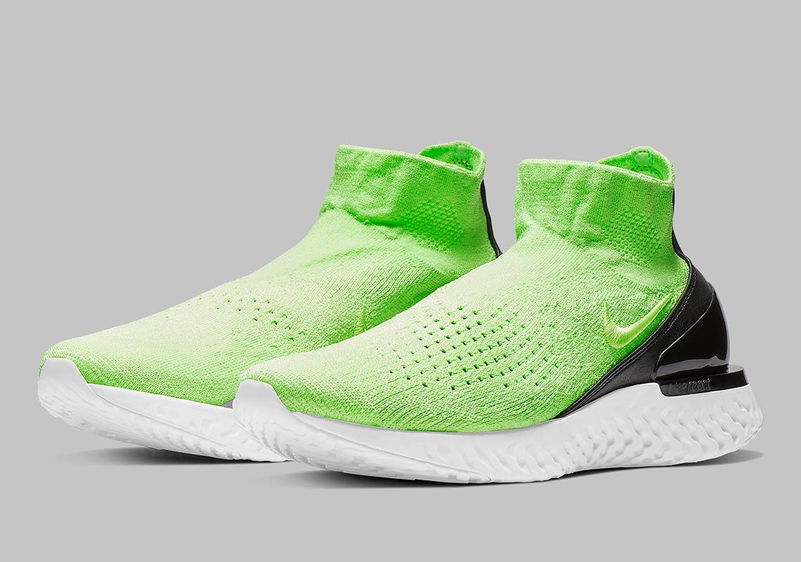 fdc342f27ca7 Nike Rise React Flyknit Lime Blast AV5554-330 Info