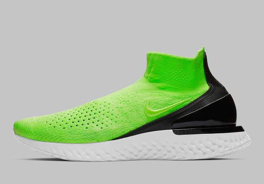 """The Nike Rise React Flyknit """"Lime Blast"""" Is Dropping Soon"""