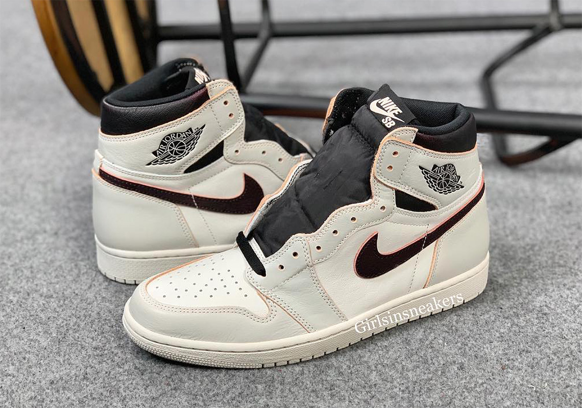 f42bc9f66fb34d Nike SB Air Jordan 1 Light Bone Crimson Tint CD6578-006 ...