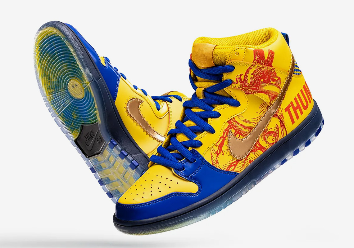 best sneakers 56fdd f902b Finnigan Mooney s Nike SB Dunk High Returns For 15 Years Of Doernbecher  Freestyle
