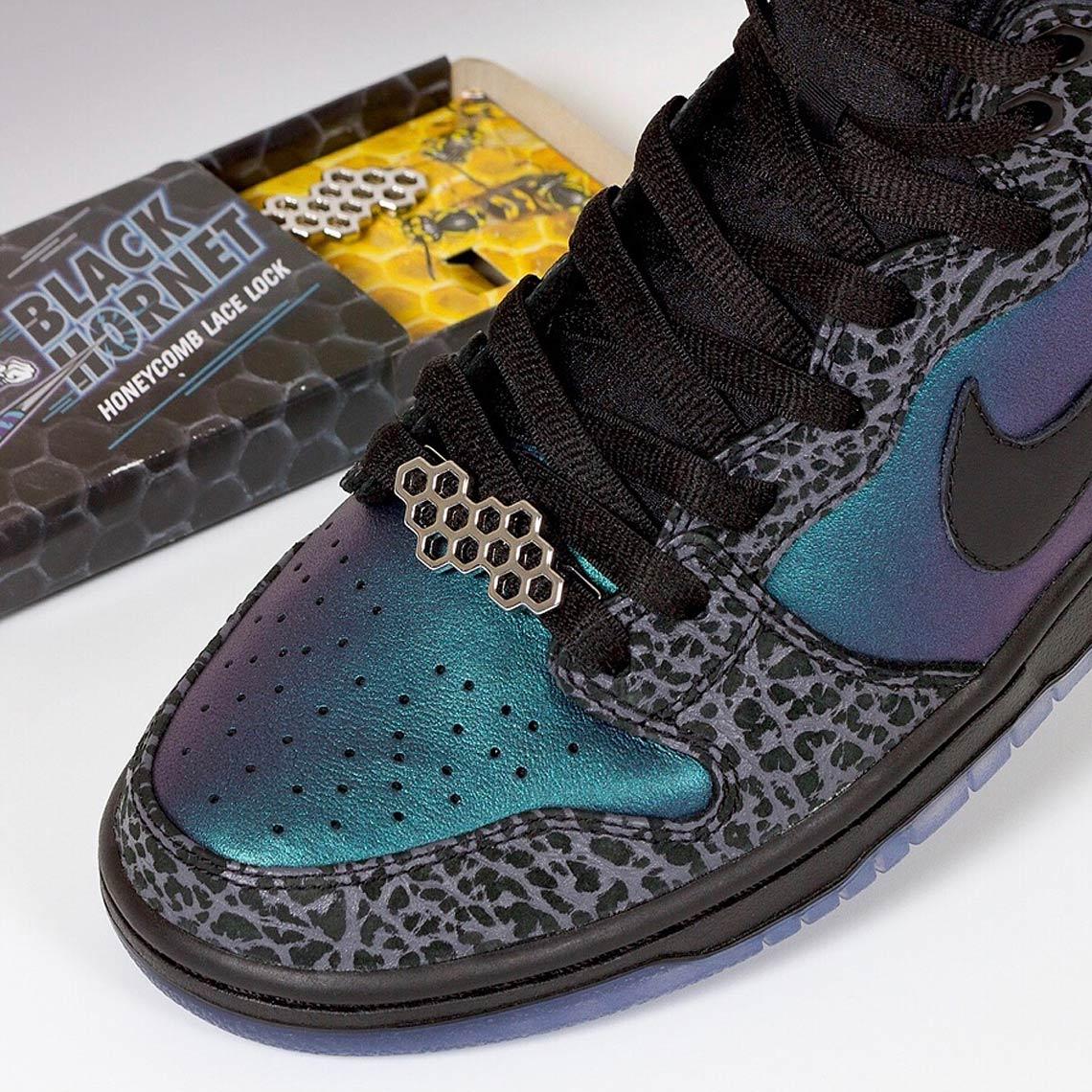 "detailed look 749a1 c2d80 Black Sheep unveils exclusive Nike SB Dunk ""Black Hornet"" packaging –  SoleGRIND"