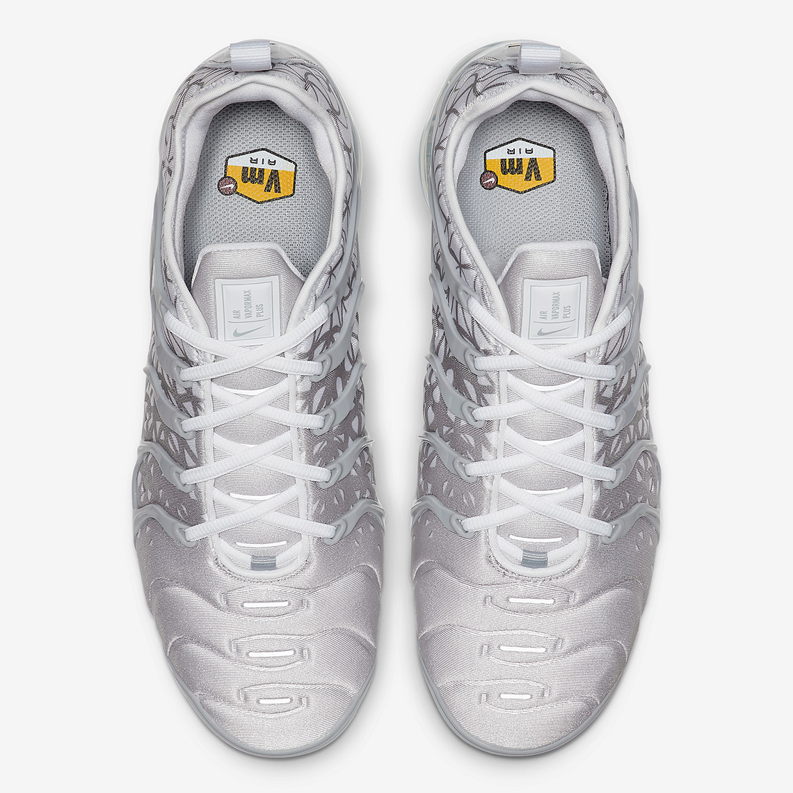 36e3e68fd99 The Nike Vapormax Plus Returns In White And Silver With Patterns ...