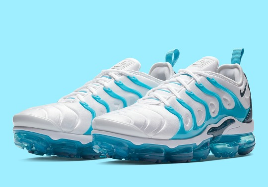 "Nike Vapormax Plus Adds A ""Blue Force"" Exterior Cage"