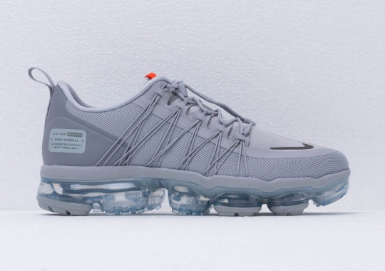 049c9a70ea50 The Protective Nike Vapormax Run Utility Appears In New Wolf Grey And Orange