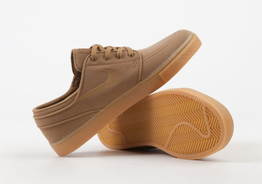 Nike's Classic SB Janoski Mixes Together Golden Beige And Gum Yellow