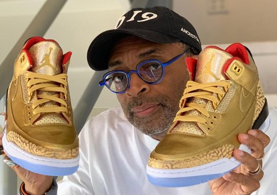 sports shoes 2554e ece02 Spike Lee Reveals Golden Air Jordan 3 Tinker For Oscars
