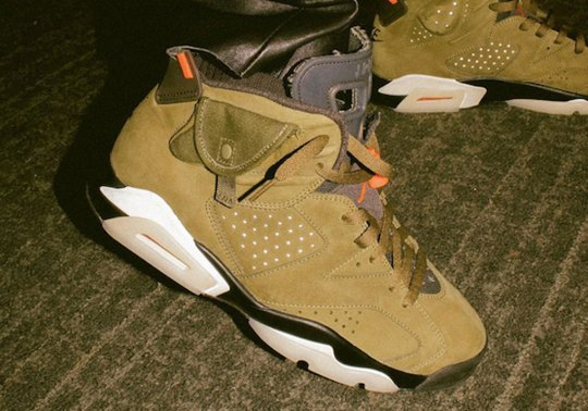 "Travis Scott Premieres A ""Cactus Jack"" Air Jordan 6 Ahead Of Super Bowl Halftime Show"