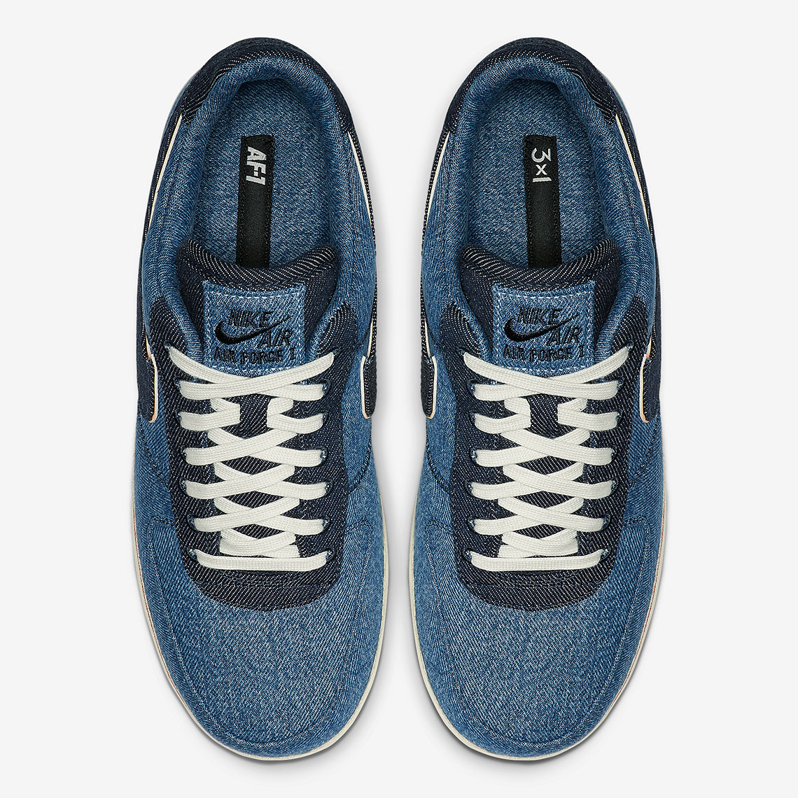 3x1 Nike Air Force 1 Selvedge Denim 905345 006 Release Info