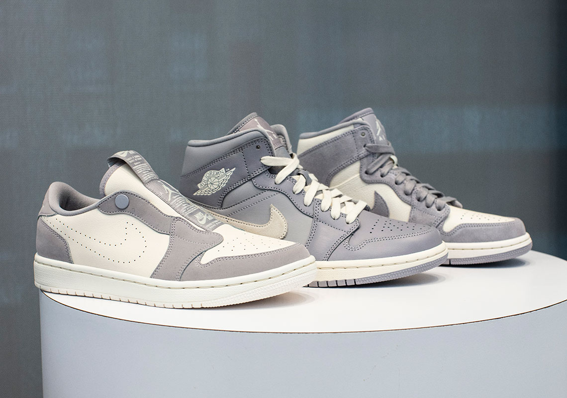 "cc1c035b44d96e The Air Jordan 1 Family Gets The ""Cool Grey"" Look For Women This Summer"