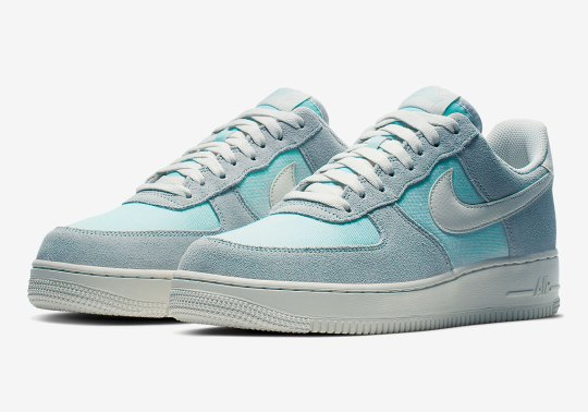 The Nike Air Force 1 Low Appears In Icy Blue Suede And Canvas