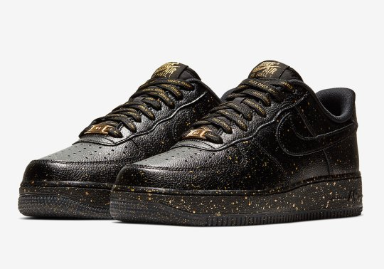"Full Gold Speckling Appears On The Nike Air Force 1 ""Only Once"""