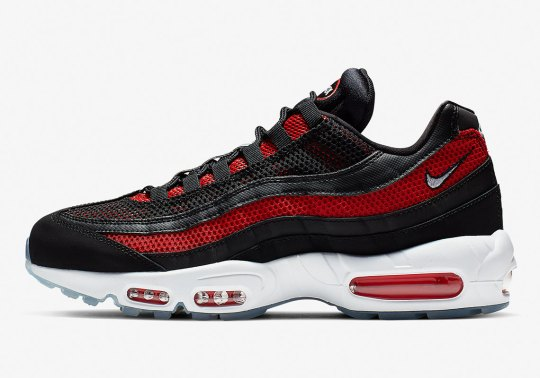 "The Nike Air Max 95 Gets A Familiar ""Bred"" Upper With Icy Soles"