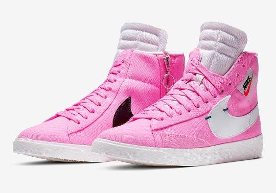 The Nike Blazer Rebel Mid Arrives In Psychic Pink