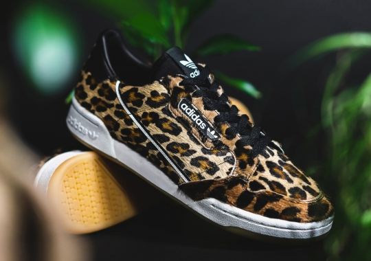 Hairy Leopard Prints Appear On The adidas Continental 80