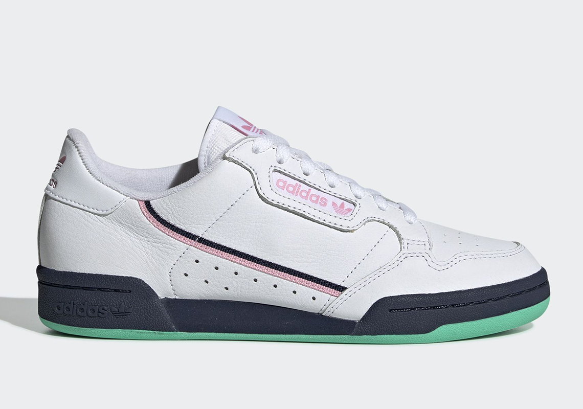 hot sale online 287f6 3f784 adidas Continental 80 Wmns Release Date March 14th, 2019 80. Color Cloud  WhiteTrue PinkCollegiate Navy