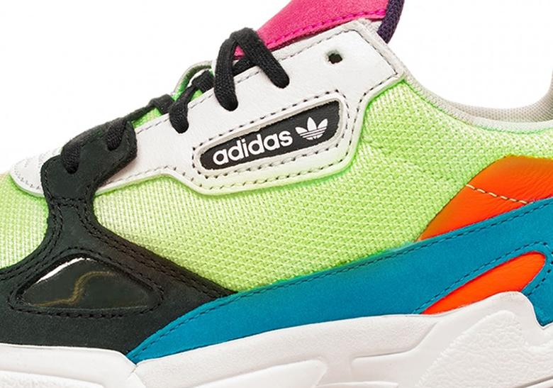 new arrival c6ca1 eb9e3 adidas Falcon Women s Neon CG6210 Release Info   SneakerNews.com