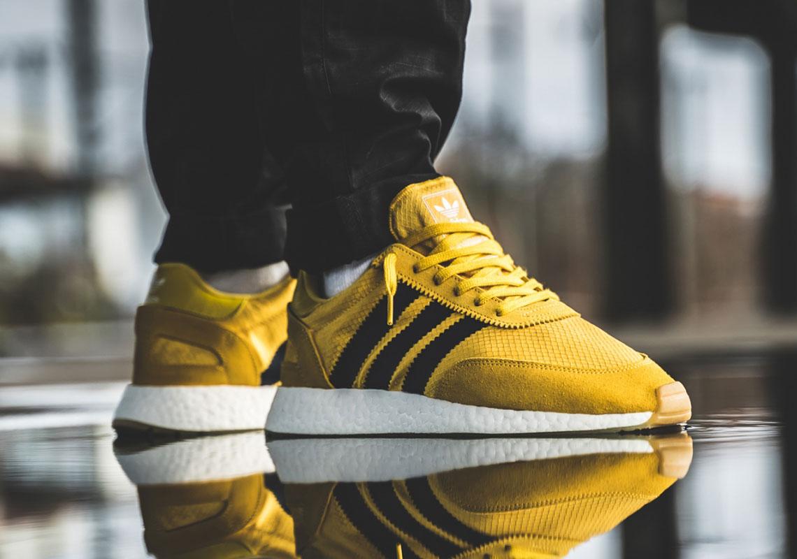 adidas Iniki Runner Boost Solar Yellow BB2094 Sneaker Bar