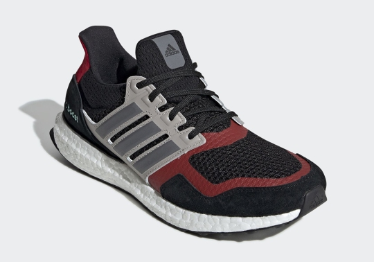 The adidas Ultra Boost S&L Appears With Grey And Red Details