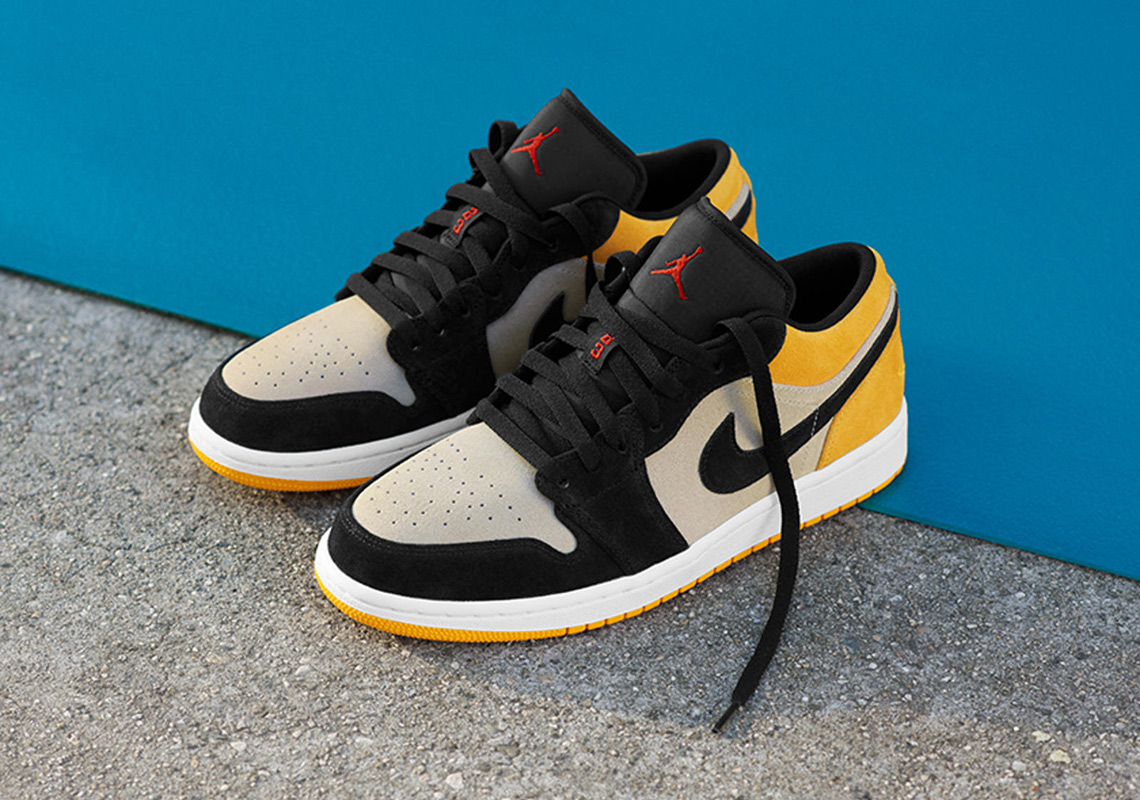 new product 77e86 bf8d3 Air Jordan 1 Low Release Date  Spring Summer, 2019  110. Color  Sail Gym  Red-University Gold-Black