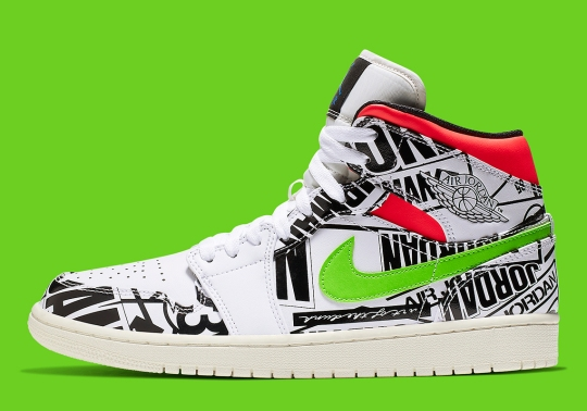 Air Jordan 1 Mid Appears With All-Over-Print Logos