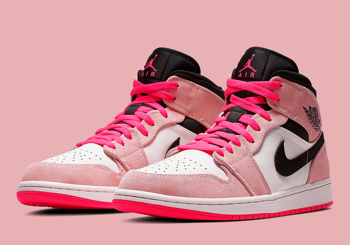 "timeless design 64b03 b8a52 The Air Jordan 1 Mid ""Hyper Pink"" Is Available"
