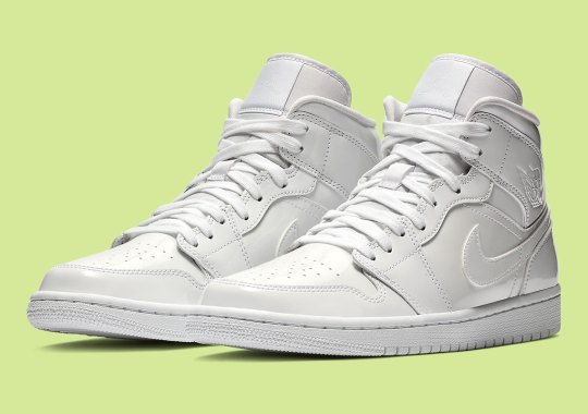 """4dfb663d8797 Official Images Of The Air Jordan 1 Mid """"White Patent"""" For Women"""