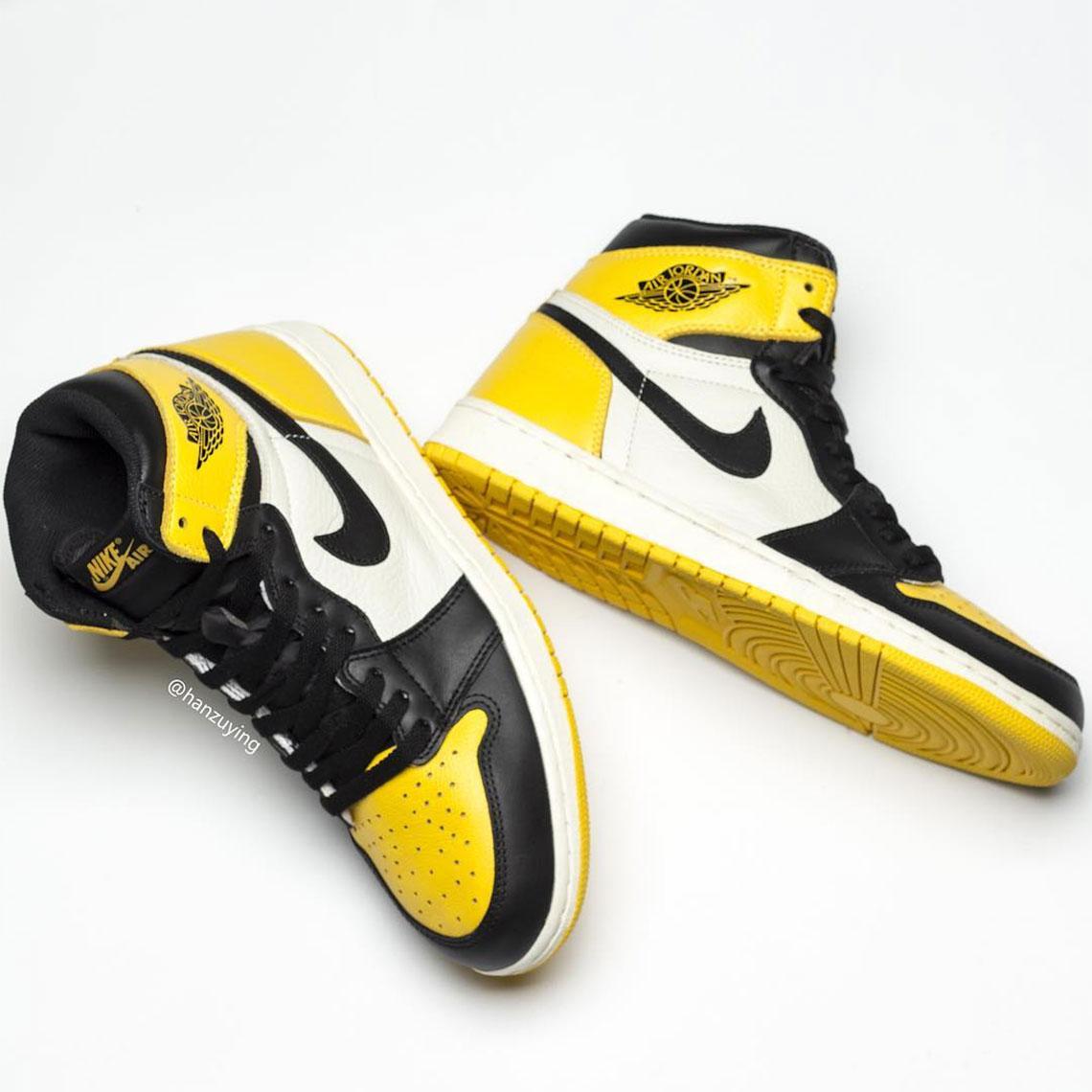 dobra sprzedaż ceny odprawy kupić Air Jordan 1 Yellow Toe AR1020-700 Release Info ...