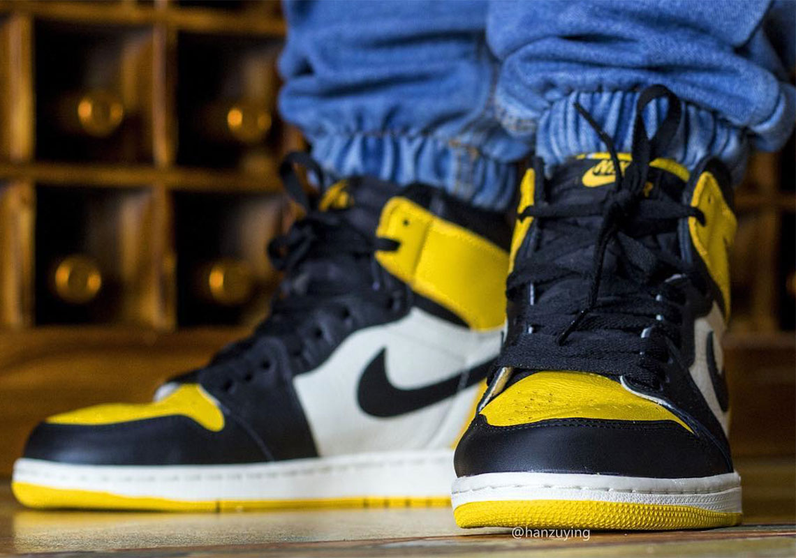 vast selection official shop best loved Air Jordan 1 Yellow Toe AR1020-700 Release Info ...