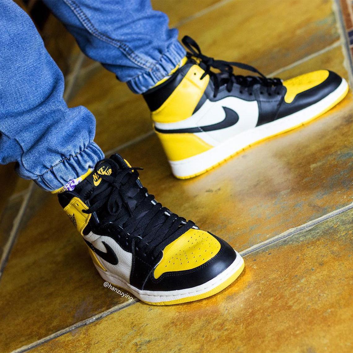 06584908c9f7b9 Air Jordan 1 Yellow Toe AR1020-700 Release Info