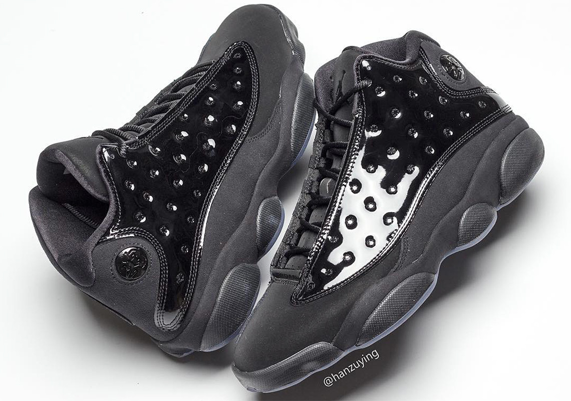 """quality design d4a9b 9bc30 First Look At The Air Jordan 13 """"Cap And Gown"""" Celebrate your graduation  with another blacked out, patent leather Jumpman retro."""
