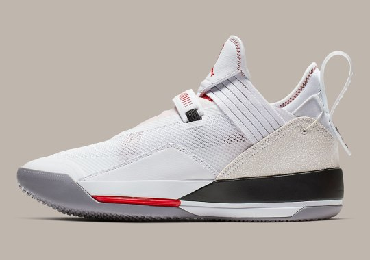 "Official Images Of The Air Jordan 33 Low ""White/Cement"""