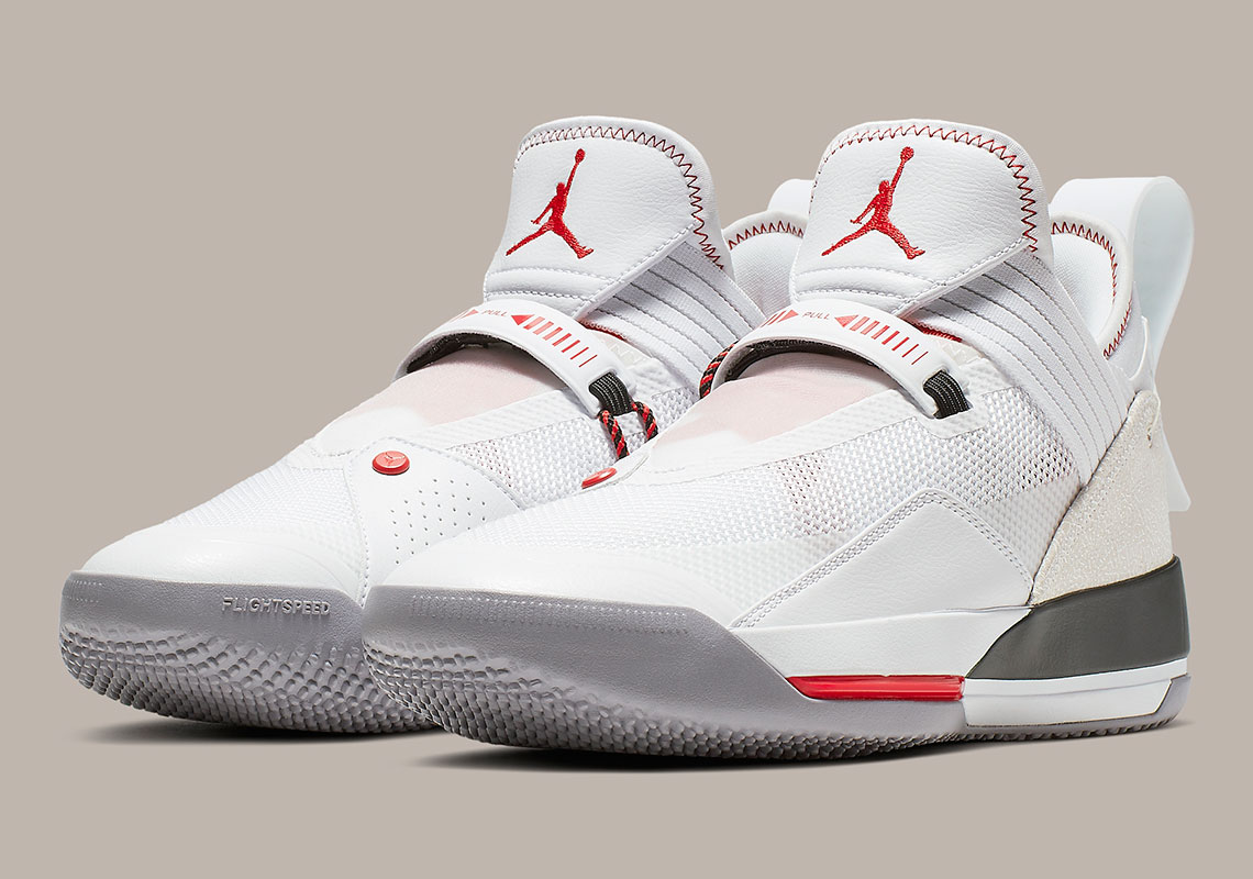 Official Images Of The Air Jordan 33 Low 8220WhiteCement8221