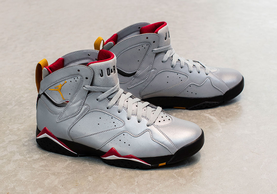 """new style d744f 7dbd6 The Air Jordan 7 """"Cardinal"""" Returns With Reflective Uppers"""