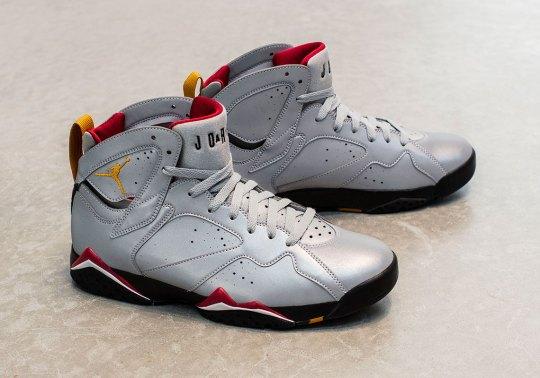 "The Air Jordan 7 ""Cardinal"" Returns With Reflective Uppers"