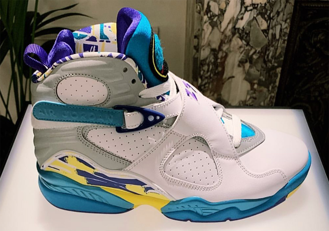 super popular 7e5e9 91379 Air Jordan 8 Aqua Womens CI1236-100 Release Date ...