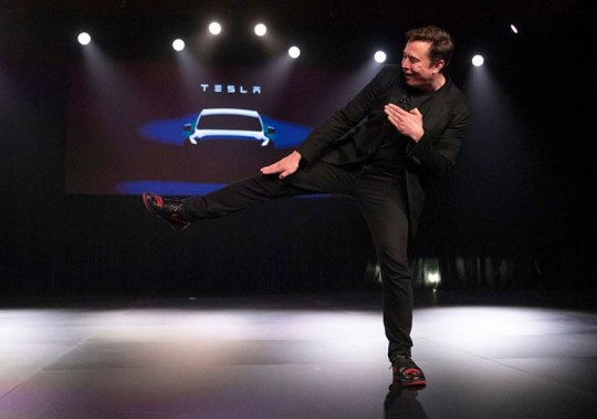 Elon Musk Wears Custom Air Jordan 1s For Tesla Y Unveil
