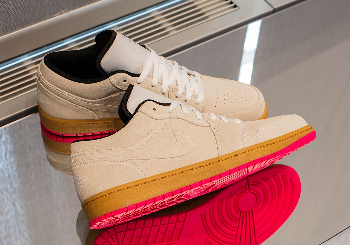 new concept 687e2 931e7 Air Jordan 1 Low Release Date  Summer, 2019  110. Color  White White Gym  Yellow-Hyper Pink. show comments