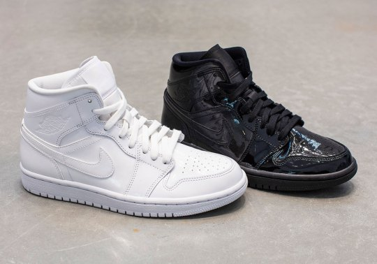 Patent Leather Is A Theme For Women's Air Jordan 1 Mids For Summer