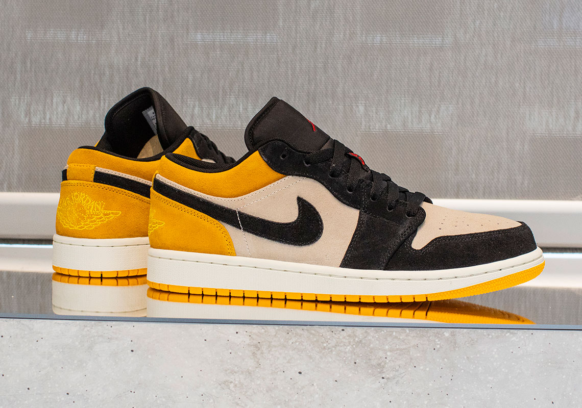 timeless design 07423 58a55 Air Jordan 1 Low Release Date  Summer, 2019  110. Color  Sail Gym Red- University Gold-Black