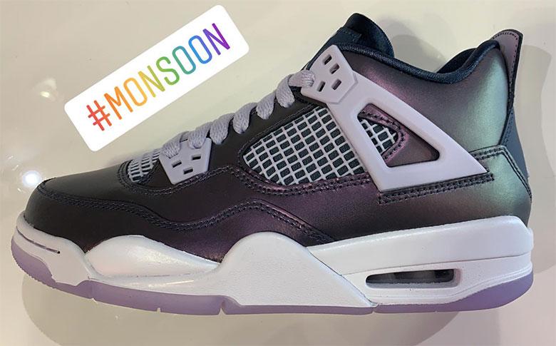 lowest price 8def1 9c1f3 Air Jordan 4 Monsoon Blue BQ9043-400 Release Date ...