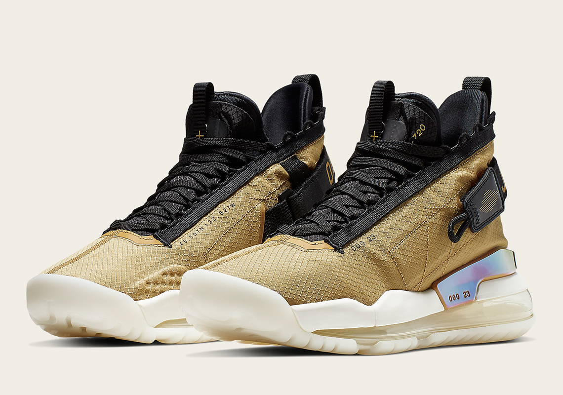 brand new 3822d 49876 The Jordan Proto Max 720 Appears In A Championship-Ready Gold And Black