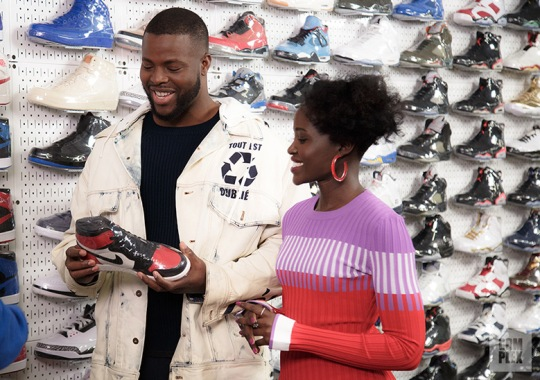 "Lupita Nyong'o And Winston Duke Of ""Us"" Go Sneaker Shopping At Stadium Goods"