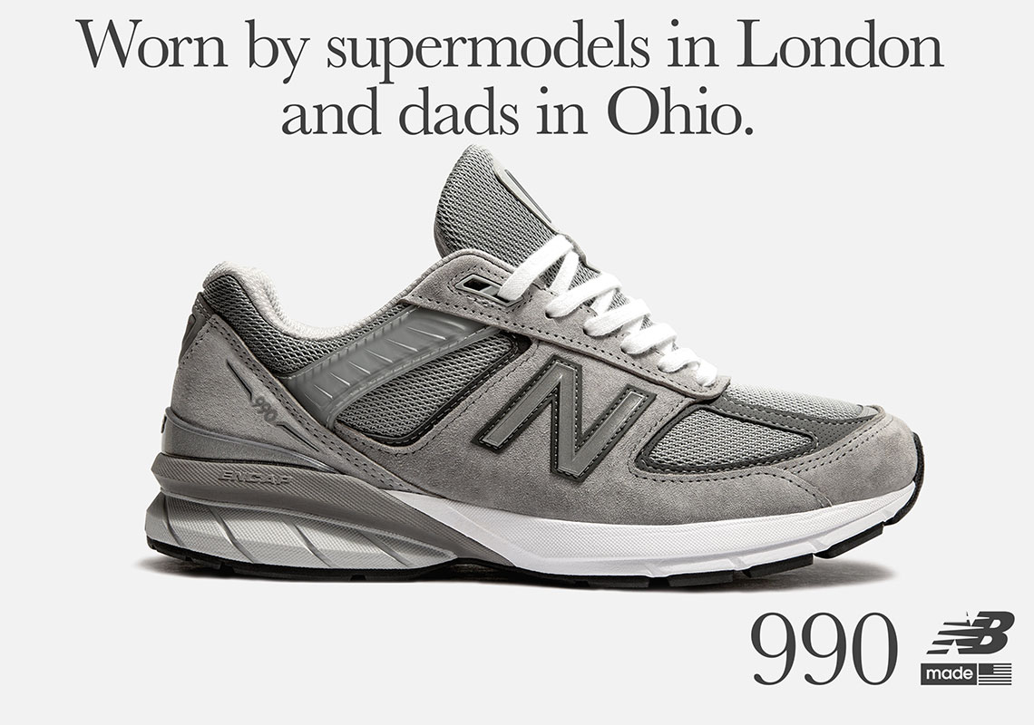 24b0065f445ea New Balance 990 V5 Grey 2019 Release Info | SneakerNews.com