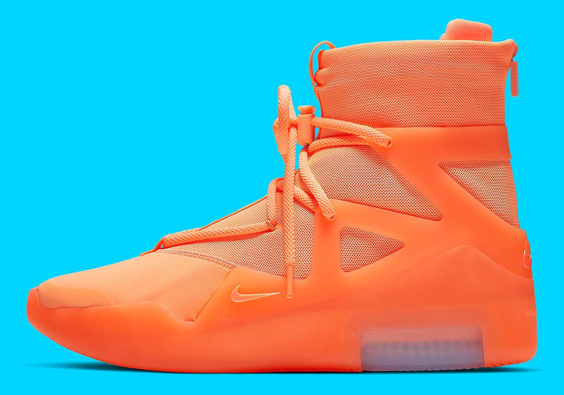 Estados Unidos Estado distorsión  Nike Air Fear Of God 1 Orange AR4237-800 Release Info | SneakerNews.com