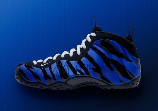 "The Nike Air Foamposite One Appears In A ""Memphis Tigers"" Colorway"