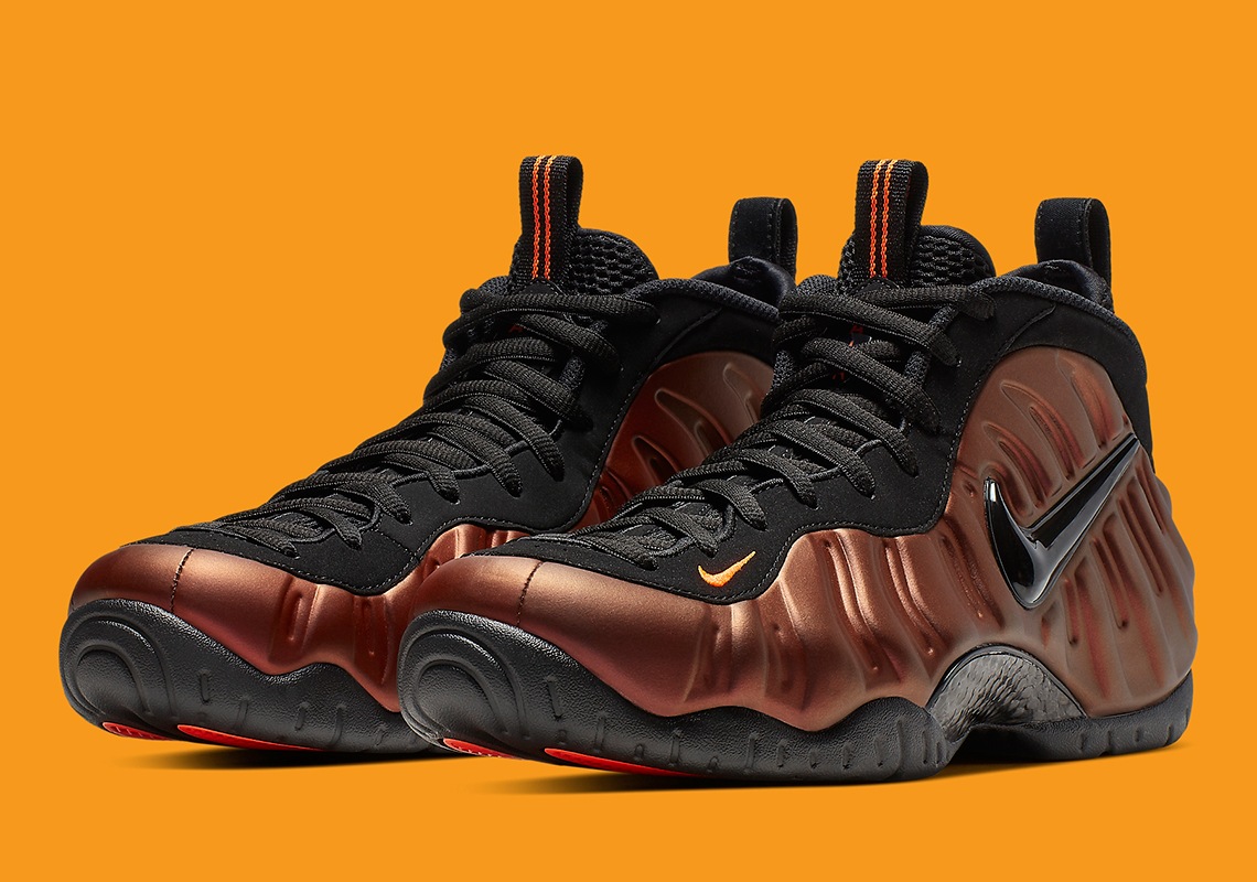 Nike Air Foamposite One Floral Black Rose Gold Pink AA3963 ...