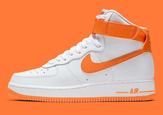more photos a2889 94712 The Nike Air Force 1 High Gets Hit With Vibrant Orange Accents