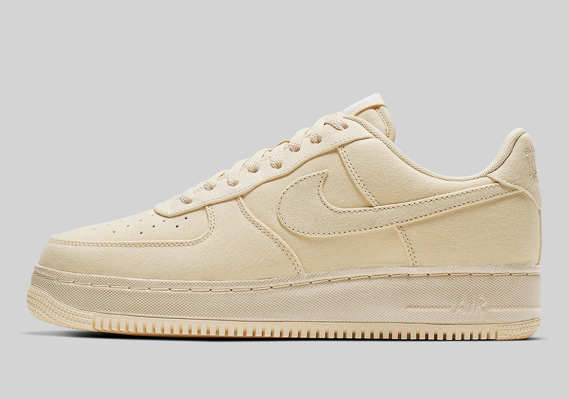rencontrer 90e48 a8387 Nike Air Force 1 Low Canvas Muslin CJ0691-100 | SneakerNews.com