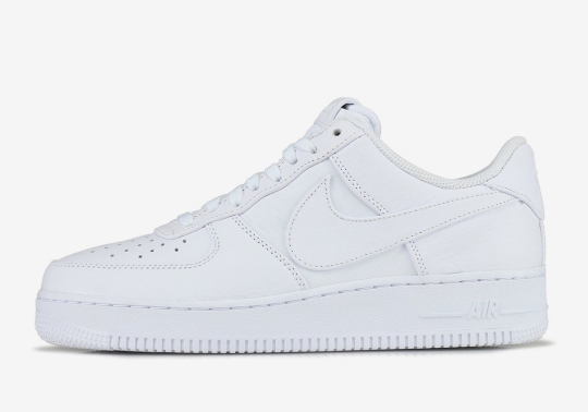 Nike Adds Oversized Swoosh Logos To The Classic White Air Force 1